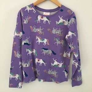 NWT Hanna Andersson Top in Horse print s.10/140